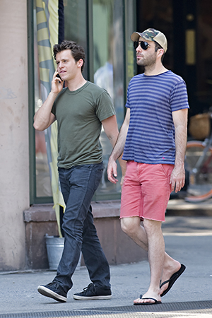 Zachary Quinto and Jonathan Groff, June 2012 (Splash News)
