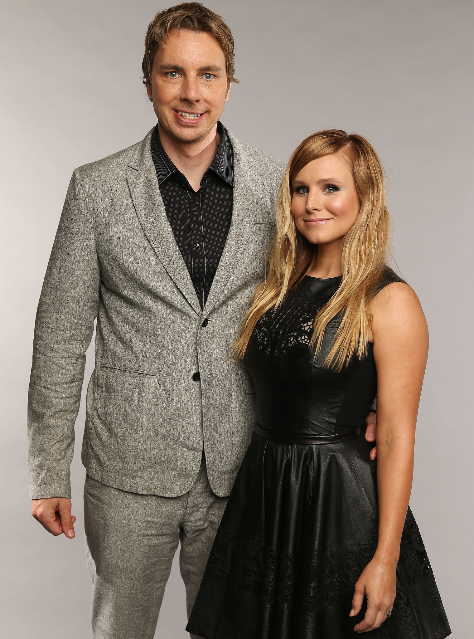 The thrifty newlyweds, Dax Shepard and Kristen Bell. (Getty Images)