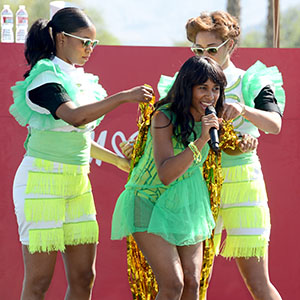 Santigold performs at the H&M party (Michael Kovac/Getty Images for H&M)