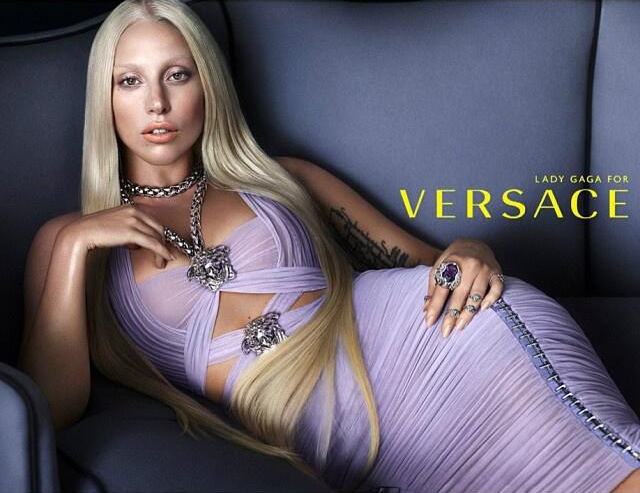 Lady Gaga is the new face of Versace. (Twitter)
