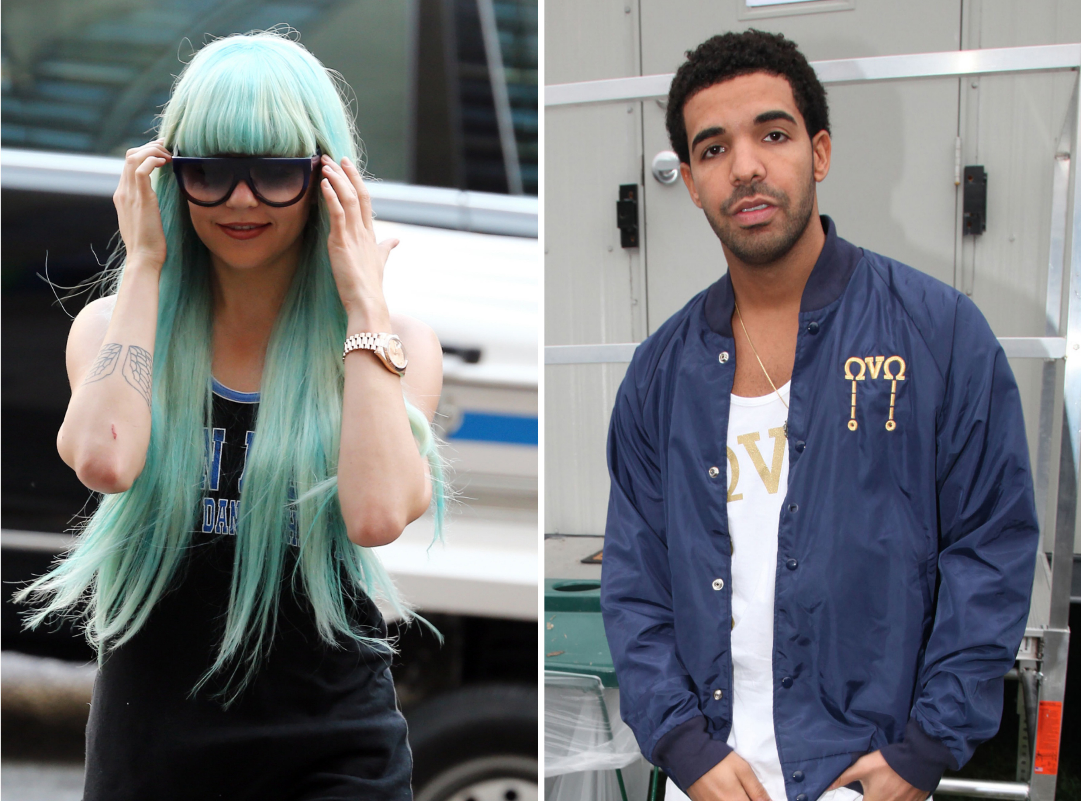 Amanda Bynes and Drake (Getty Images)