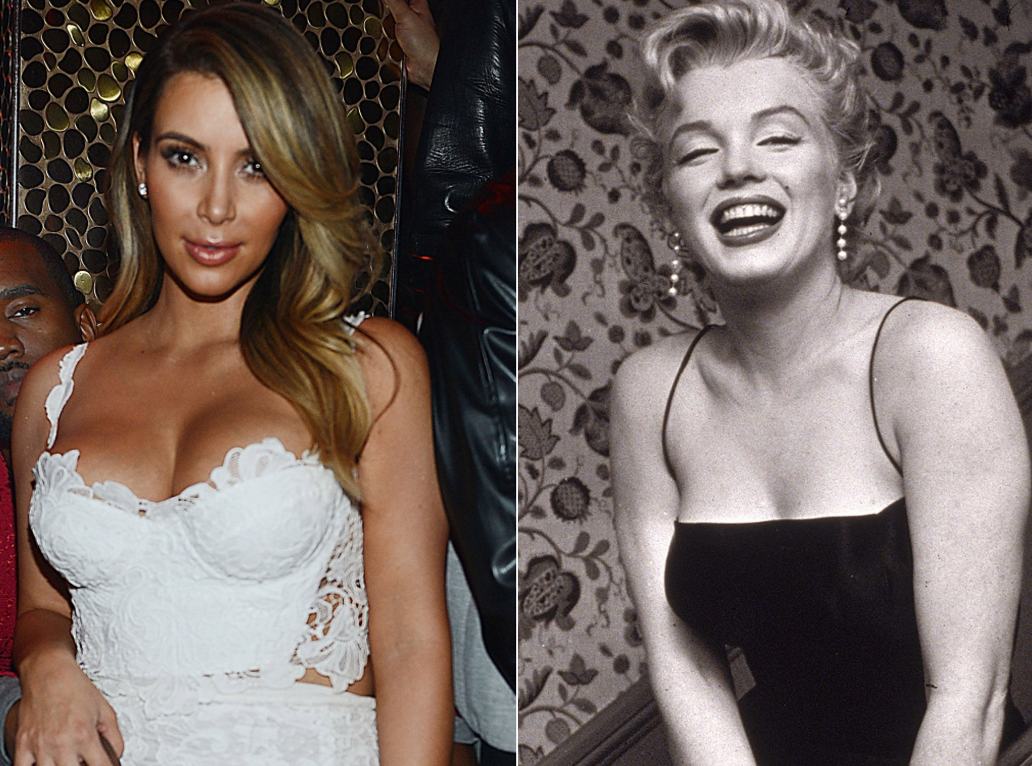 Kim Kardashian and Marilyn Monroe (Getty Images)