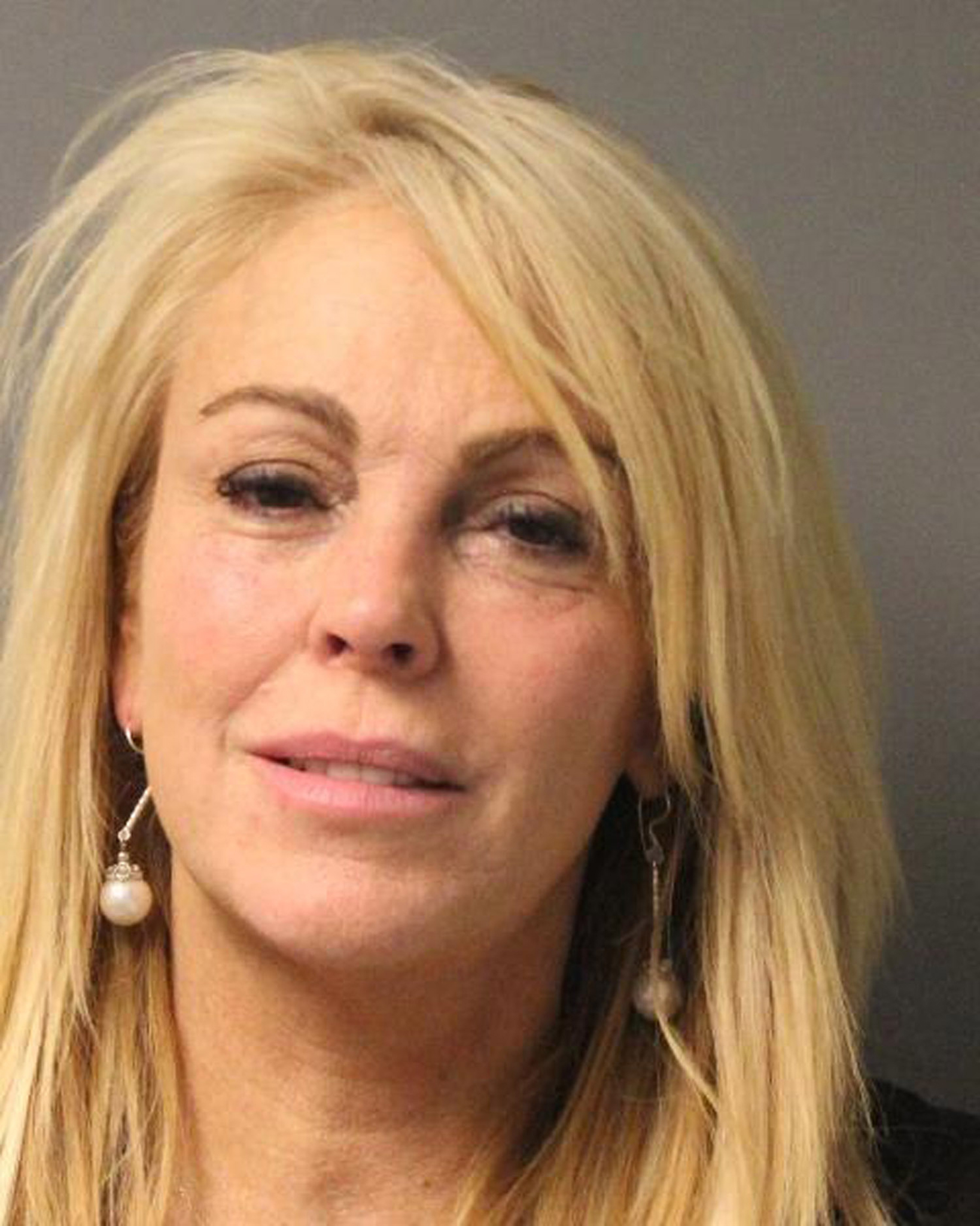 Dina Lohan's mug shot. (Splash News)