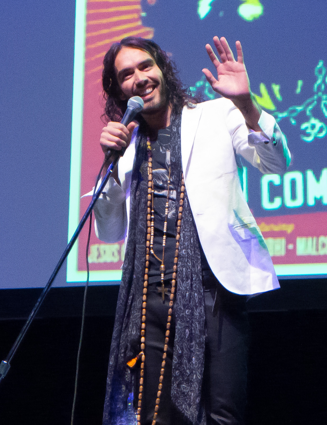 Russell Brand in Atlanta on September 29. (Splash News)