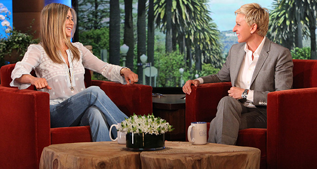 Jennifer Aniston and Ellen DeGeneres (Michael Rozman/Warner Bros.)