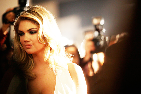 Kate Upton in a Mercedes-Benz Super Bowl commercial (Mercedes-Benz)