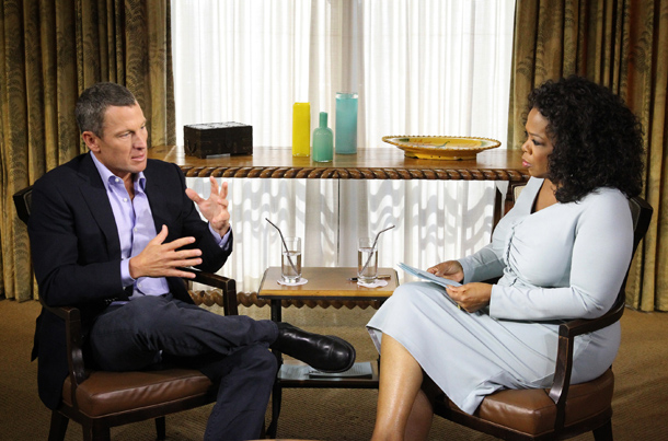 Lance Armstrong and Oprah Winfrey (Harpo Studios, Inc / George Burns)