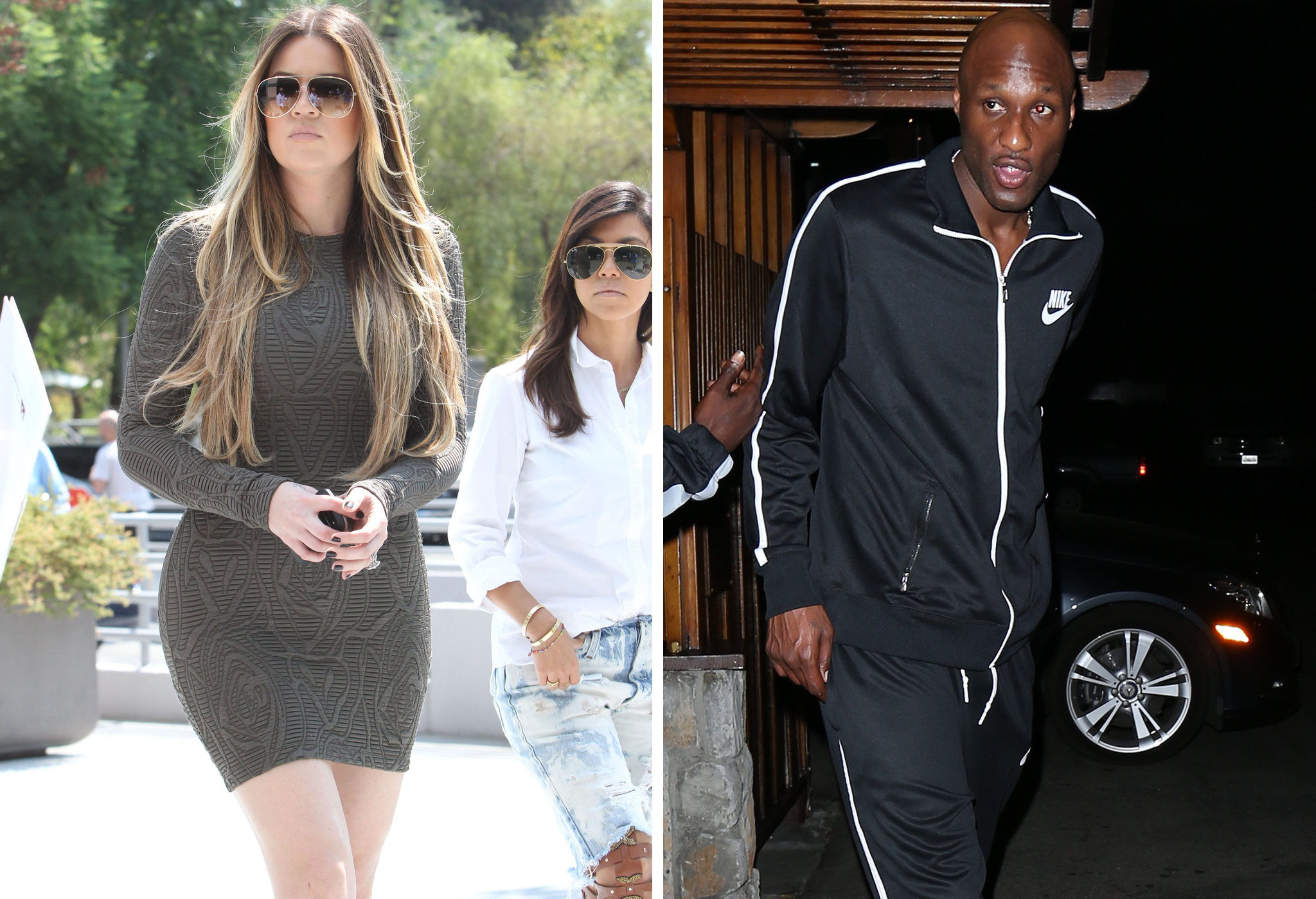 Khloe Kardashian and Lamar Odom (FameFlynet/Splash News)