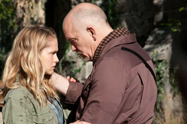 Palmer in a scene with John Malkovich, who plays her father. (Jonathan Wenk/Summit Entertainment)