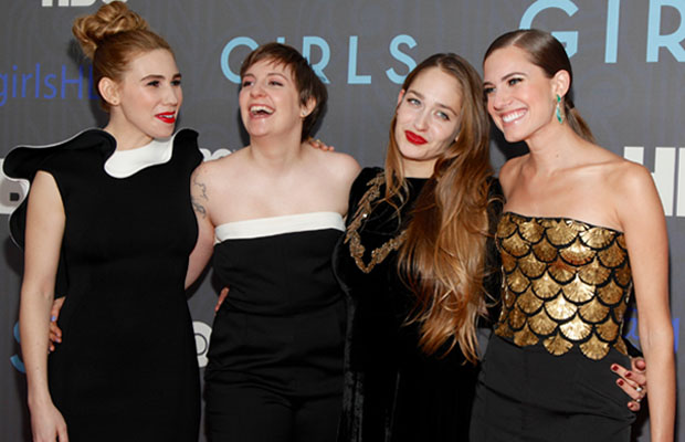 Allison Williams with her Girls at the second season premiere. (Charles Eshelman/Film Magic)