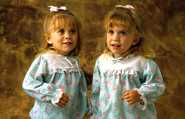 The Olsen twins during their Full House days. (Bob D'Amico/ABC)