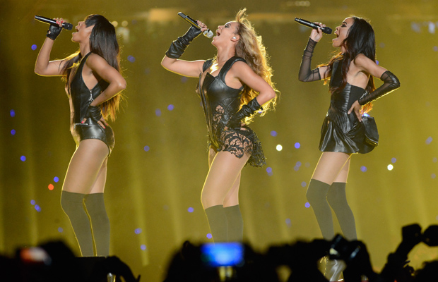 Together again: Kelly, Beyonce, and Michelle. (Kevin Mazur/WireImage)