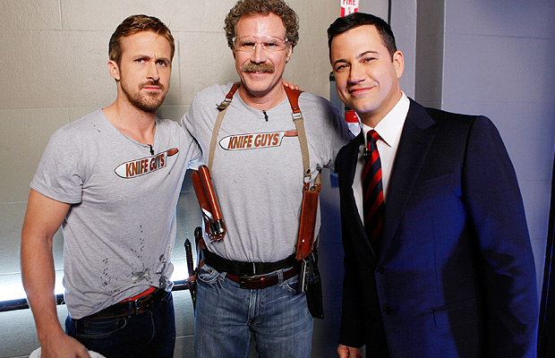 Gosling (and his red undies), Ferrell, and Kimmel. (ABC)