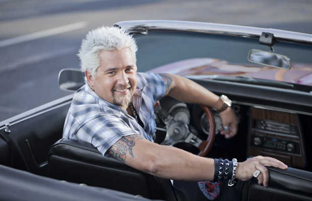 Guy Fieri talks to omg!. (John Lee/Television Food Network)