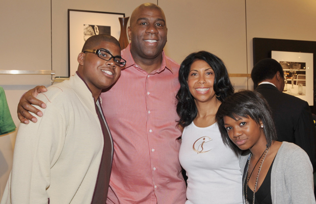 The Johnsons: EJ, Magic, Cookie, and Elisa in 2009. (WireImage)