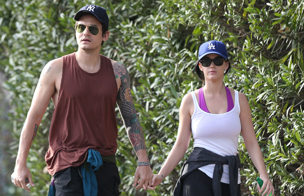 John Mayer and Katy Perry on February 1 (Splash News)