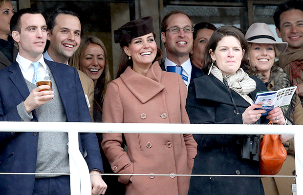 Kate Middleton, Prince William and friends enjoy the races (Getty Images)