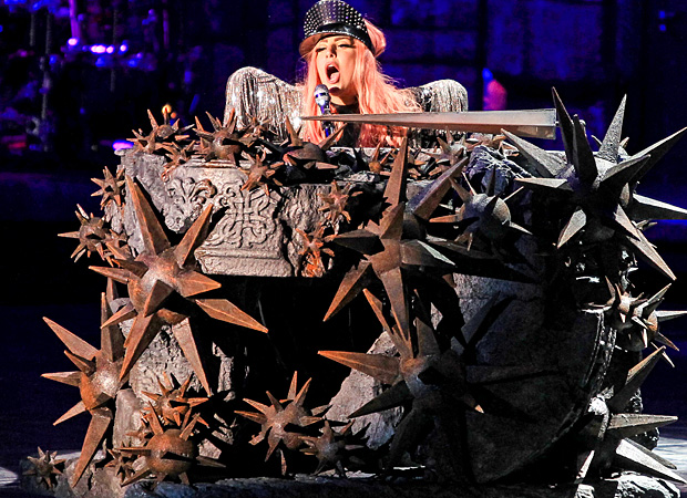 Lady Gaga performs. (AKM-GSI)