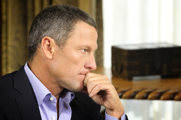 Lance Armstrong confesses to Oprah. (George Burns/Oprah Winfrey Network)