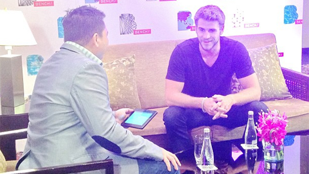 Liam Hemsworth sits down for Bench interview (Instagram)