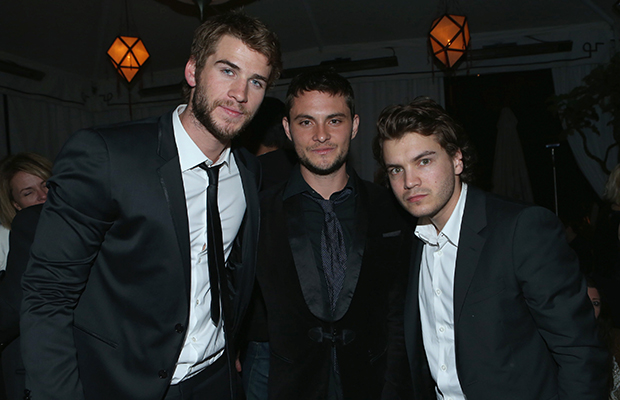 Liam Hemsworth, Shiloh Fernandez, and Emile Hirsch at Grey Goose party (Getty Images)