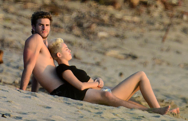 Miley and Liam on January 13 (INFdaily)