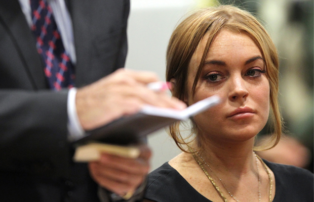 Lohan looked worse for wear in court. (David McNew/Getty Images)