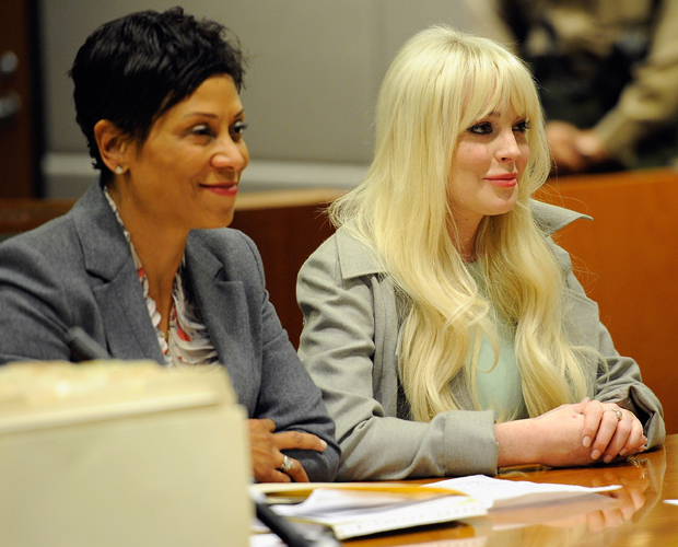 Lohan with Holley in February 2012, one of their many court appearances. (Getty Images)