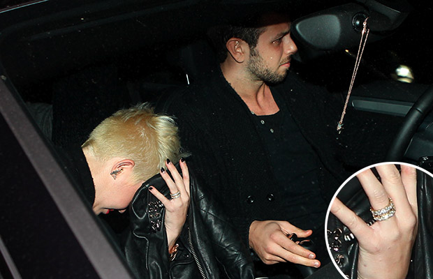 Miley Cyrus and male friend in L.A. on March 7 (Blanco-RS-Maciel/X17online.com)