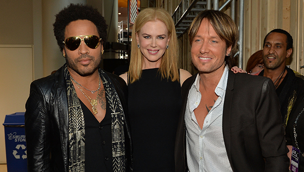 Lenny Kravitz, Nicole Kidman, and Keith Urban backstage at the CMT Awards (Getty Images)