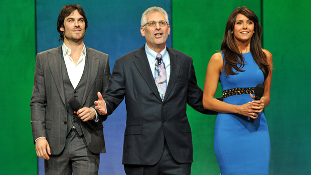 Ian Somerhalder and Nina Dobrev at CW upfronts in NYC on May 16, 2013 (Getty Images)