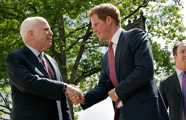 Prince Harry and John McCain (Win McNamee/Getty Images)