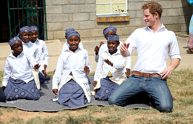 Prince Harry visits Lesotho (Getty Images)