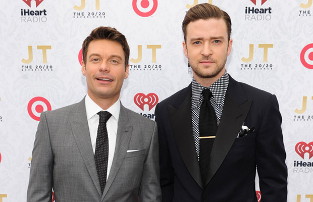 Ryan Seacrest and Justin Timberlake (Clear Channel Media)