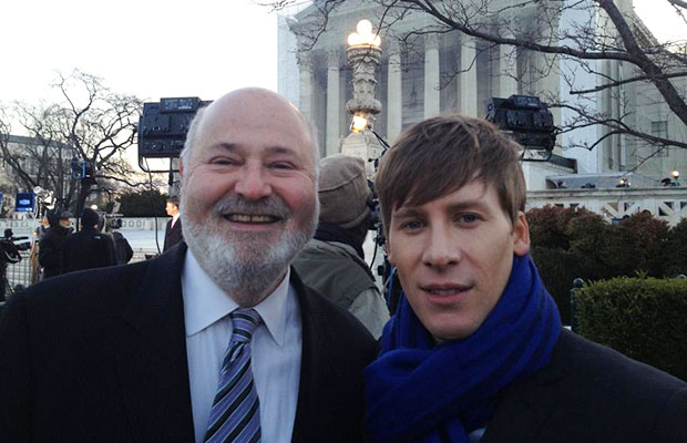 Rob Reiner and Dustin Lance Black (Dustin Lance Black/Facebook)