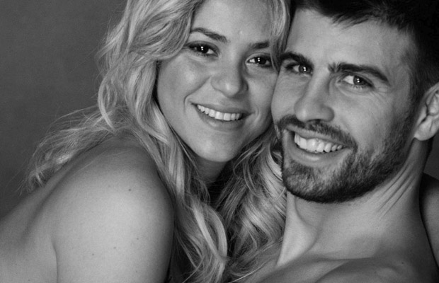 Shakira and boyfriend Gerard Pique (Twitter)