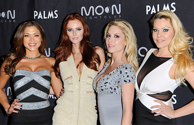 Shanna Moakler, right, poses with, from left, Hillary Cruz, Alyssa Campanella, and Tara Conner. (Mindy Small/FilmMagic)