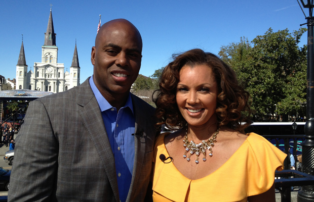 Vanessa Williams and omg! Insider's Kevin Frazier in New Orleans.