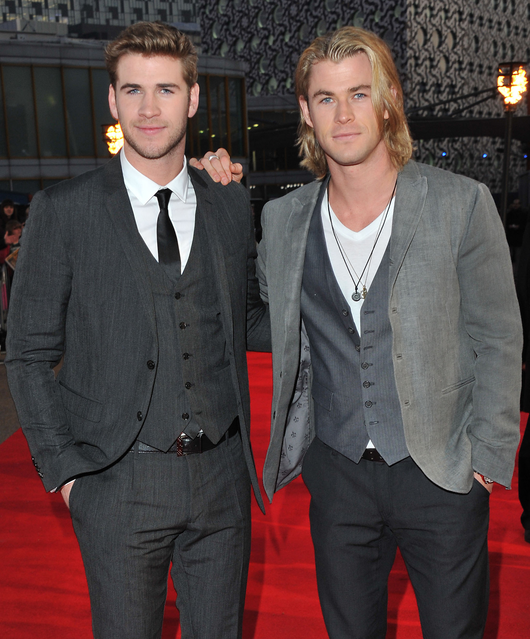 Liam and Chris Hemsworth (Jon Furniss/WireImage)