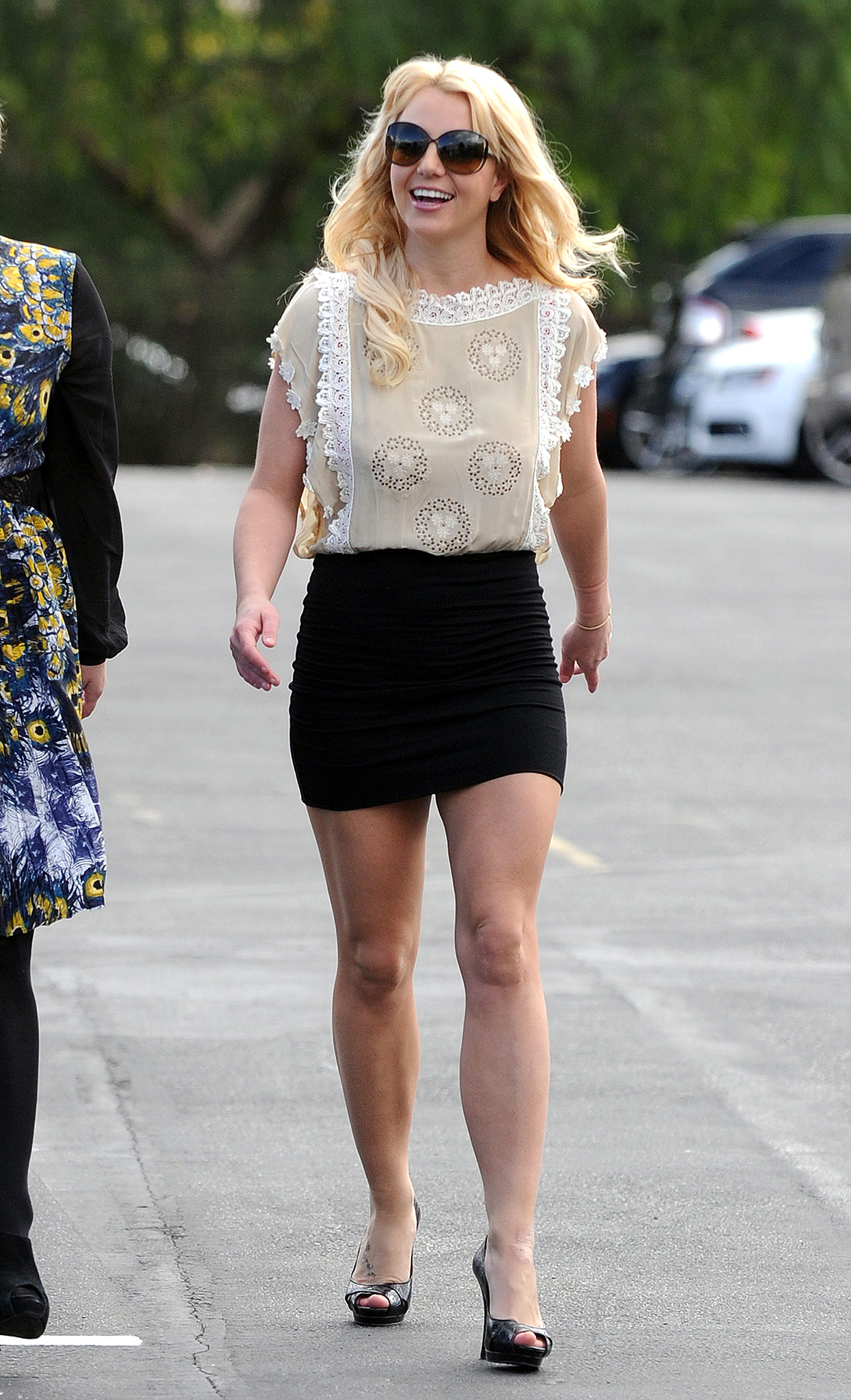 Britney hits church earlier this year. (Splash News)