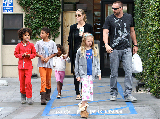 Klum with beau Martin Kristen and her children (Tito/Splash News)