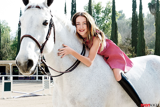 Noah Cyrus in the May 2013 issue of Teen Vogue (Pamela Hanson/Teen Vogue)