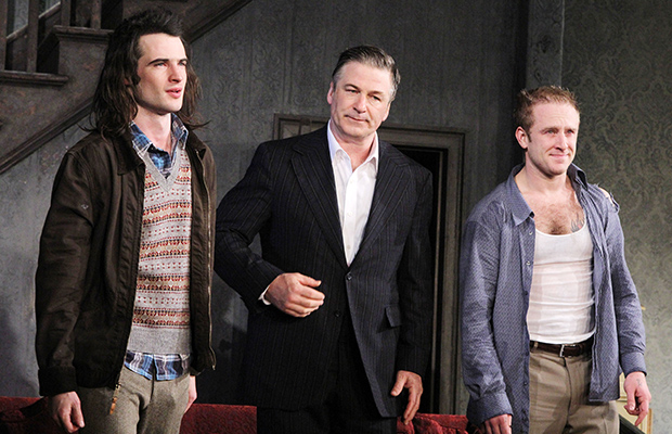 Tom Sturridge, Alec Baldwin, and Ben Foster in 'Orphans' (Getty Images)