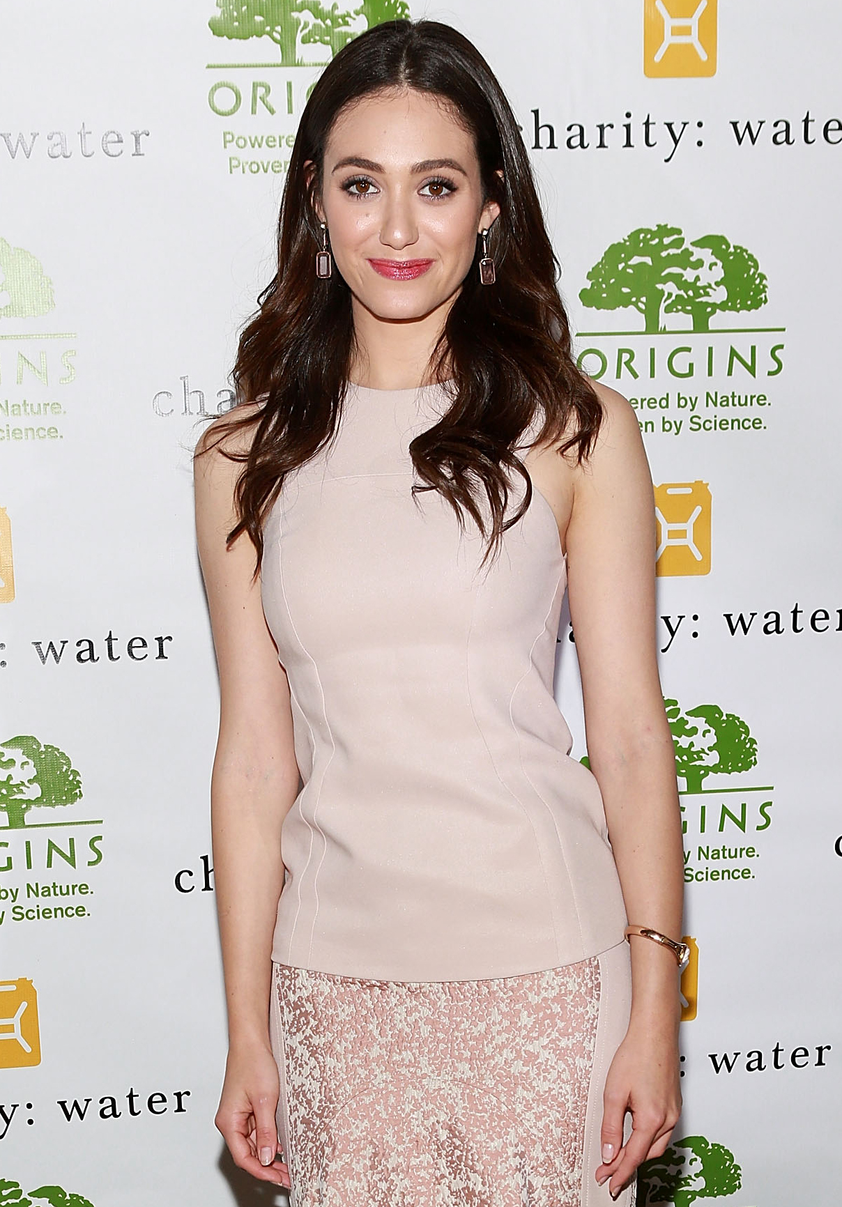 Emmy Rossum at the Origins Smarty Plants event in Manhattan. (Getty Images)