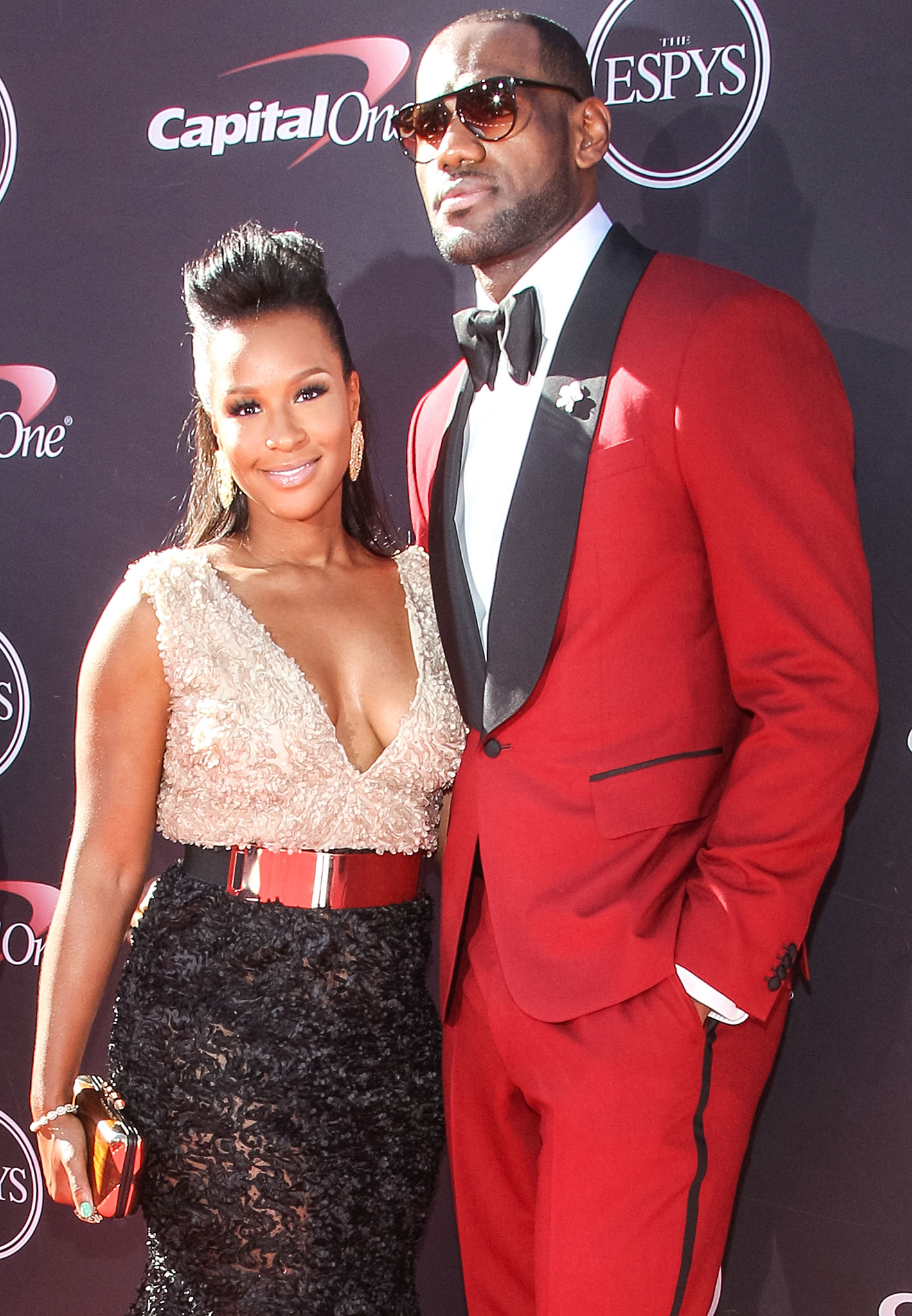 Savannah Brinson and LeBron James (Getty Images)