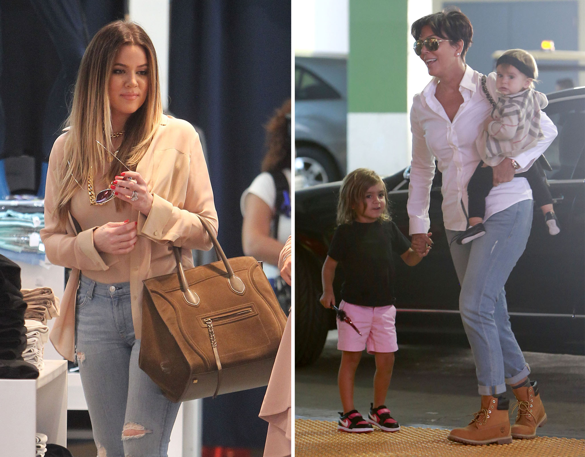 Khloé and Kris Jenner film 'Keeping Up With the Kardashians' (PacificCoastNews.com/FameFlynet)