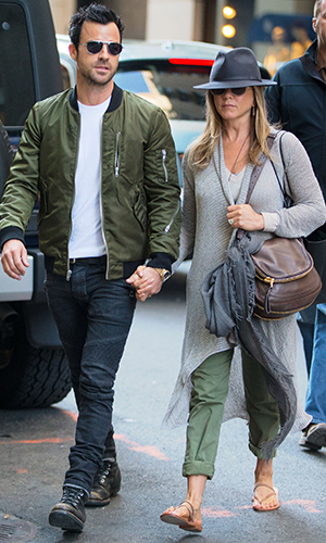 Jennifer Aniston and Justin Theroux on May 12 (Splash News)
