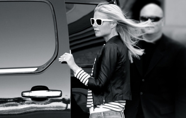 Gwyneth Paltrow sports her limited edition Warby Parker sunglasses (Goop)