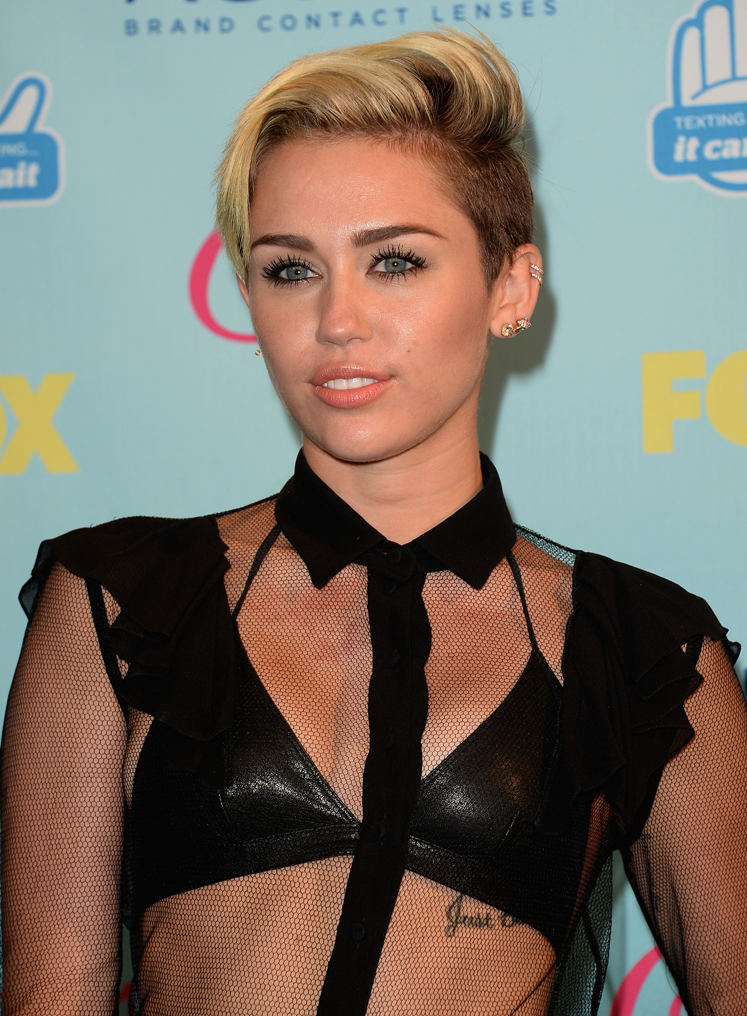 Miley Cyrus is ready to go long ... with her locks. (Getty Images)