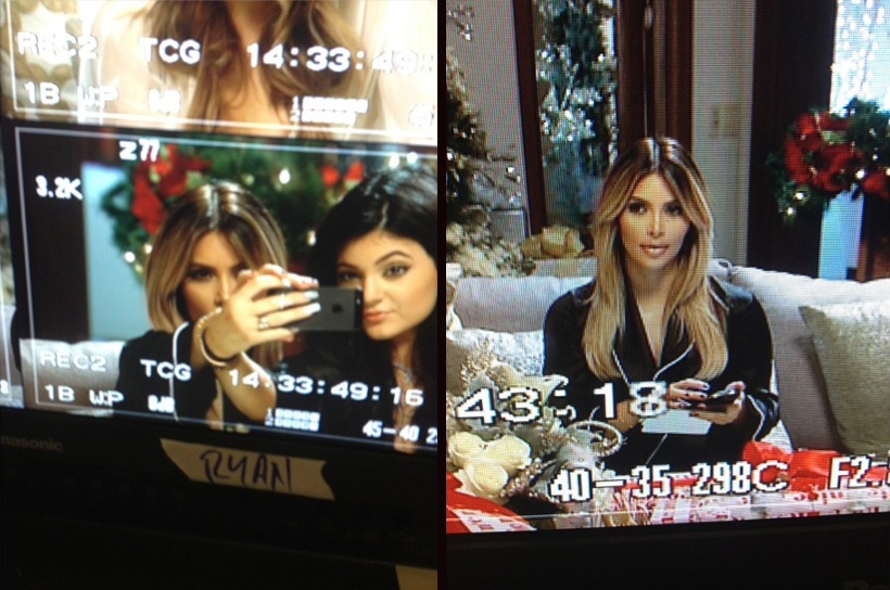 Kim Kardashian on set of 'KUWTK' (Instagram)